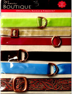Colorbok Memory Boutique Ornamental Buckles And Ribbons Embellishment Kit - SCRAPBOOKFARE