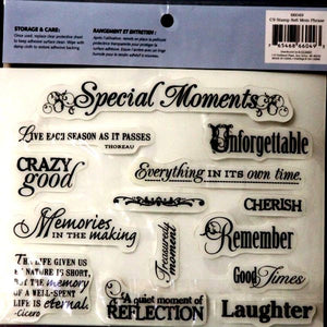 Cloud 9 Design Memory Phrase Rubber Cling Stamps - SCRAPBOOKFARE