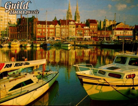 Western Publishing Company, Inc.1000 Piece Guild Oostende Harbor Belgium Jigsaw Puzzle