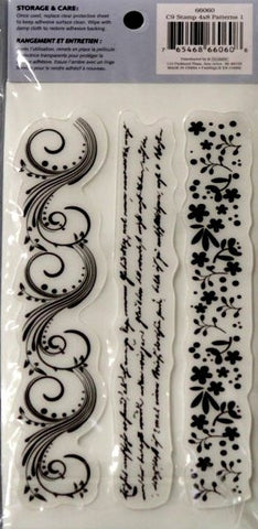 Cloud 9 Design Patterns 1 Border Rubber Cling Stamps - SCRAPBOOKFARE
