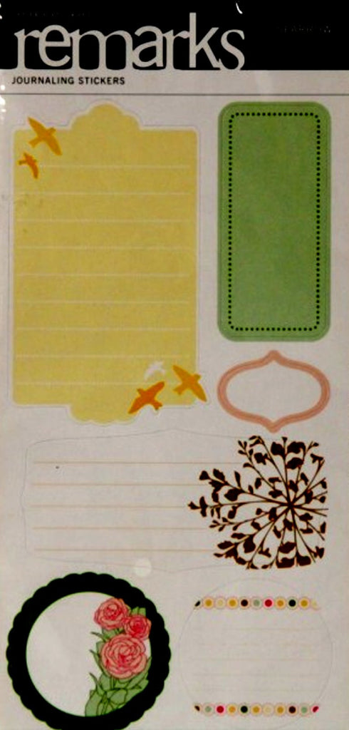 American Crafts Remarks Sparrow Journal Stickers - SCRAPBOOKFARE