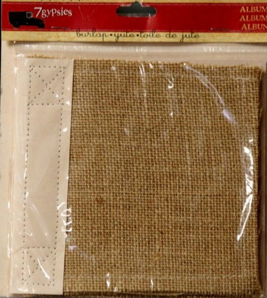 7gypsies 6 x 6 Burlap Scrapbook Album - SCRAPBOOKFARE