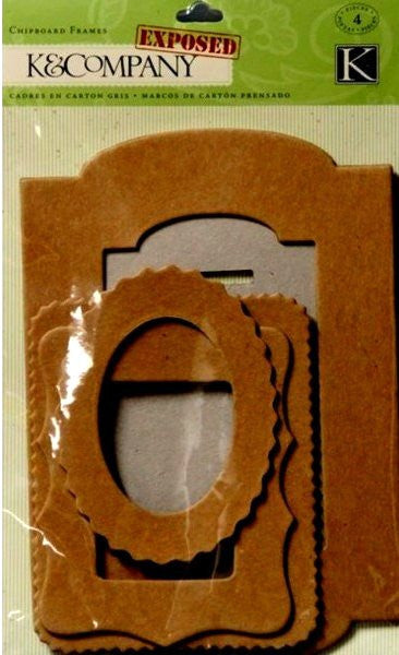 K & Company Exposed Chipboard Frames Embellishments - SCRAPBOOKFARE