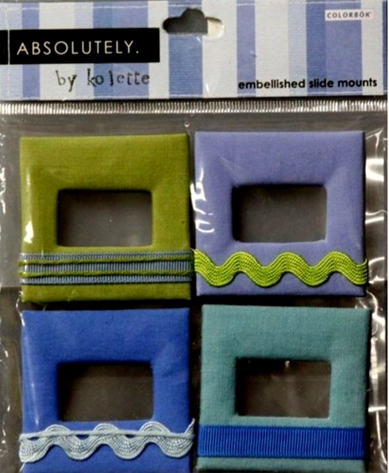 Colorbok Absolutely by Kolette Self-Adhesive Embellished Slide Mounts - SCRAPBOOKFARE