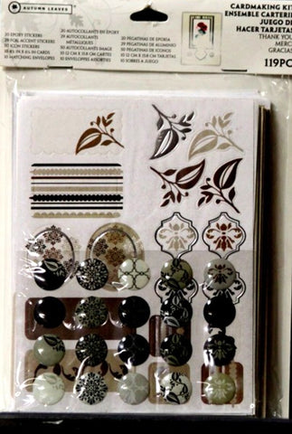 Autumn Leaves Thank You Cardmaking Kit - SCRAPBOOKFARE