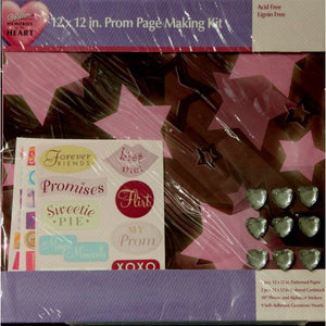 Wilton Memories Of The Heart Prom Scrapbook Page Making Kit