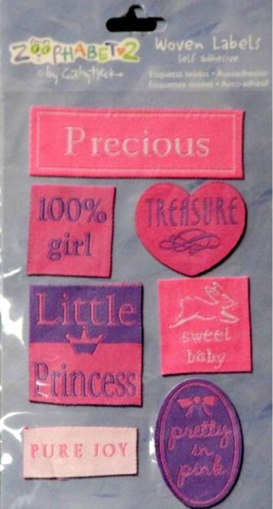 C. R. Gibson Markings Cathy Heck Zoophabet2 Self-Adhesive Baby Woven Labels - SCRAPBOOKFARE