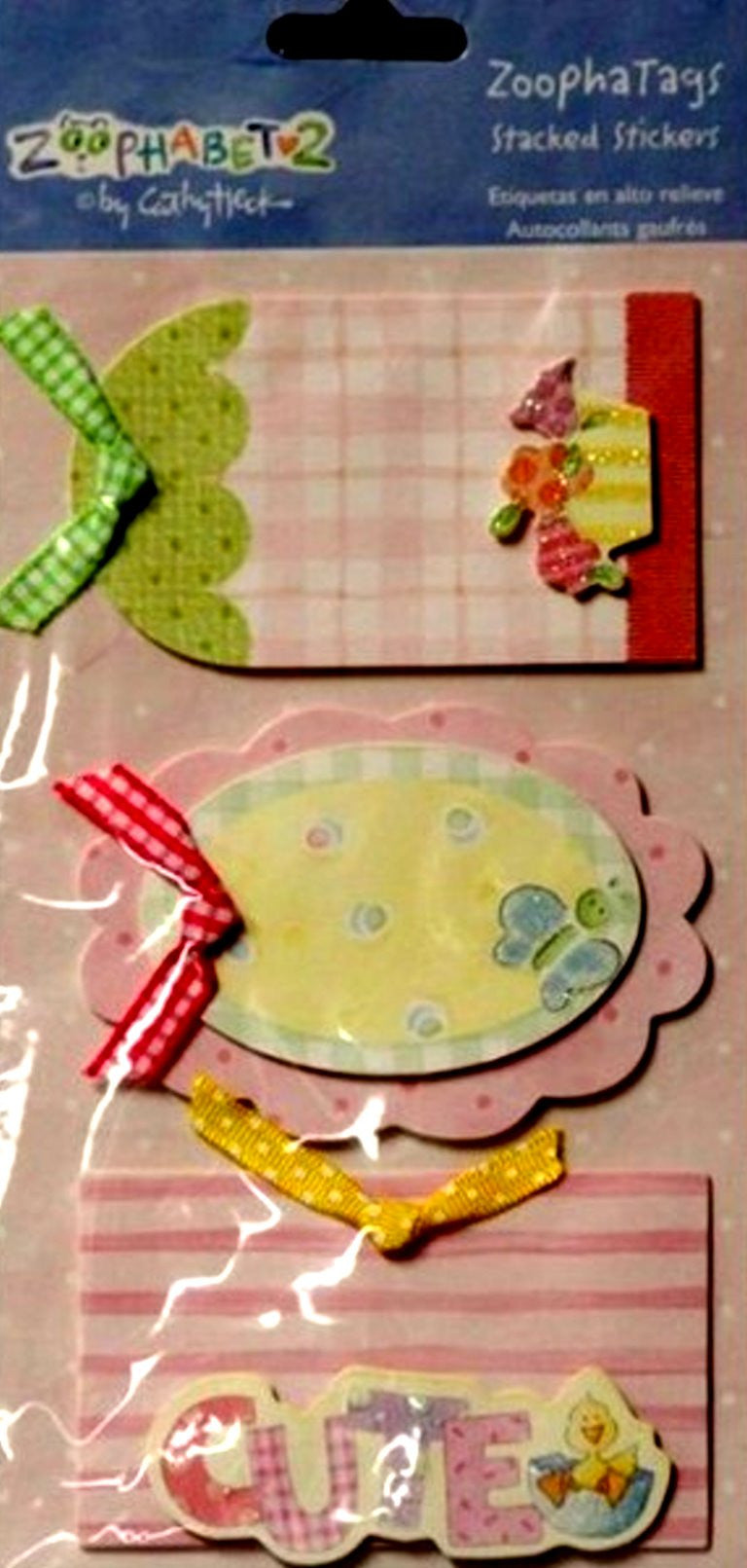 C. R. Gibson Markings Cathy Heck Zoophabet2  Zoopha Baby Tags Stacked Stickers - SCRAPBOOKFARE