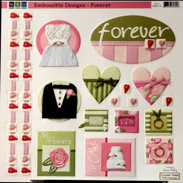 We R Memory Keepers Embossible Designs Forever Wedding Die-Cut Sheet