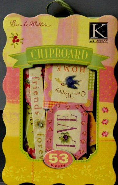 K & Company Brenda Walton Dollhouse Sweet Things Double-sided Glittered & Bling Chipboard Embellishments - SCRAPBOOKFARE