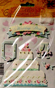 K & Company Wedding Day Dimensional Stickers - SCRAPBOOKFARE