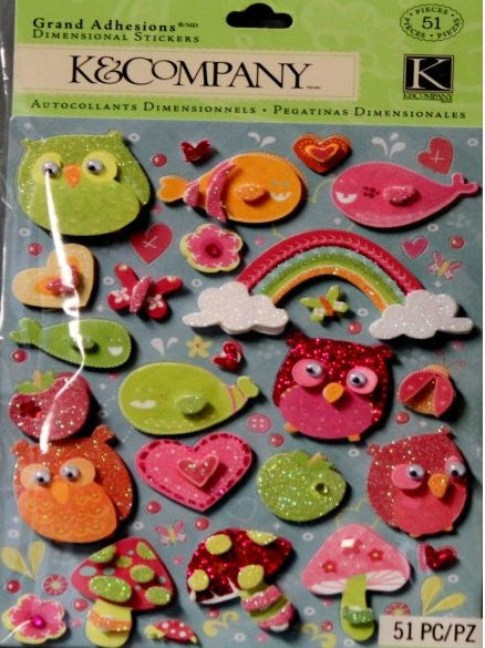 K & Company Berry Sweet Icon Grand Adhesions Dimensional Stickers - SCRAPBOOKFARE