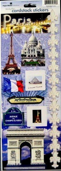 Paper House Productions Sticky Pix Paris Cardstock Stickers - SCRAPBOOKFARE