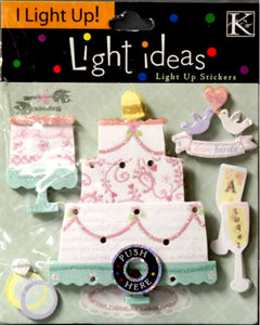 K & Company Wedding Cake Light Ideas Dimensional Stickers - SCRAPBOOKFARE