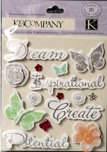 K & Company Inspirational Sentiments Dimensional Sticker - SCRAPBOOKFARE