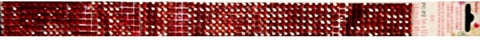 Darice Adhesive Back Acrylic Ruby Red Gems Embellishment Strip - SCRAPBOOKFARE