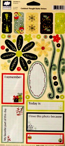 Cloud 9 Design Christmas Is.... Cardstock Thought Starter Stickers - SCRAPBOOKFARE