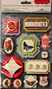 Cosmo Cricket Evangeline Dimensional Stickers - SCRAPBOOKFARE