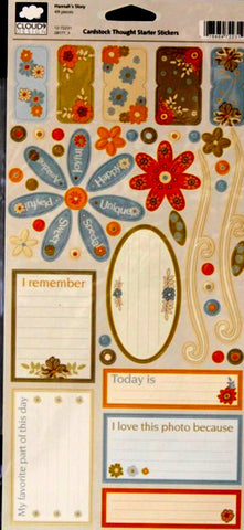 Cloud 9 Design Hannah's Story Cardstock Thought Starter Stickers - SCRAPBOOKFARE