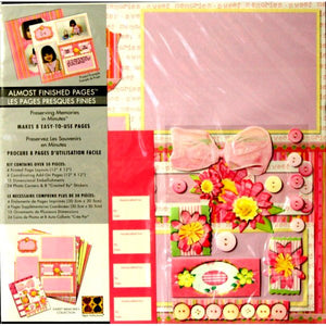 Paper Reflections Almost Finished 12 x 12 Sweet Memories Scrapbook Pages Kit - SCRAPBOOKFARE