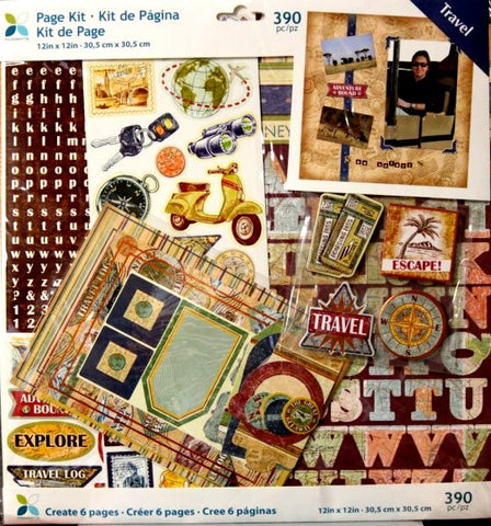 Momenta 12 x 12 Travel Scrapbook Pages Kit - SCRAPBOOKFARE