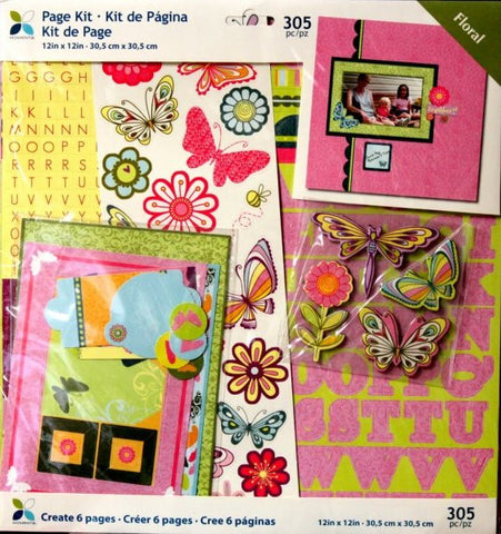 Momenta 12 x 12 Floral Scrapbook Pages Kit - SCRAPBOOKFARE