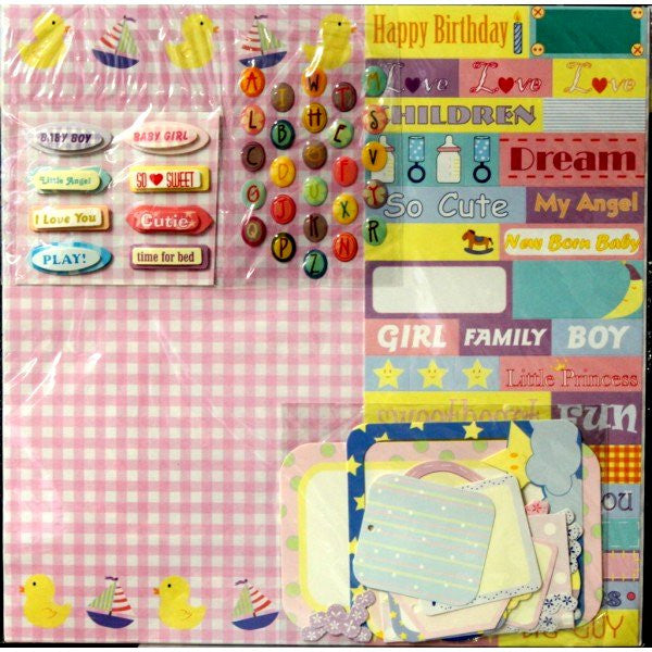 Baby 12 x 12 Scrapbook Pages Kit - SCRAPBOOKFARE