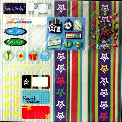 Boy Birthday 12 x 12 Scrapbook Pages Kit - SCRAPBOOKFARE