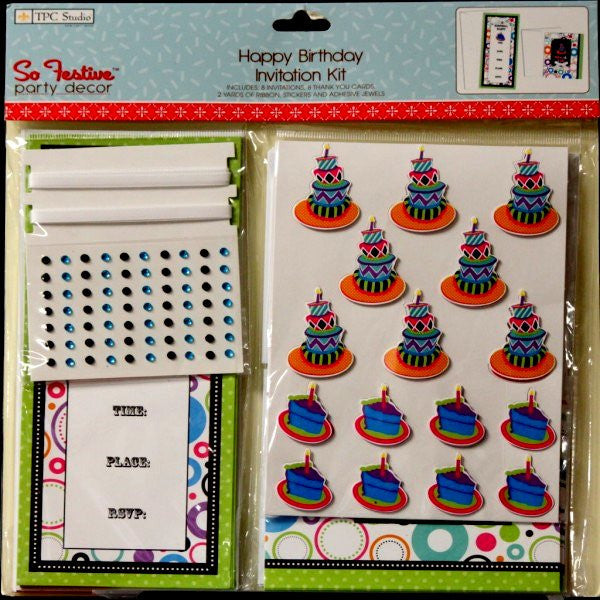 TPC Studio Happy Birthday Invitation Kit