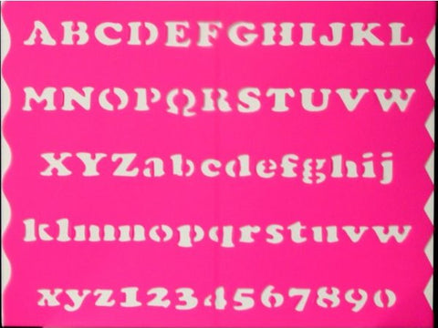 Alphabets & Numbers Hot Pink Stencil - SCRAPBOOKFARE