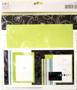 SEI Black Orchid 8  x 8 Assembled Scrapbook Pages Layout