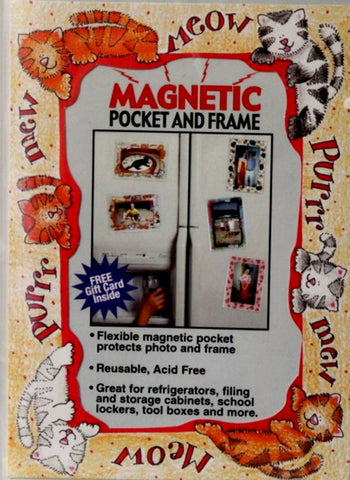 Cat Magnetic Pocket and Frame - SCRAPBOOKFARE