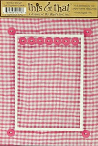 My Mind's Eye This & That Fresh Fabrics Pink Gingham Die-Cut Frame & Embellishments - SCRAPBOOKFARE