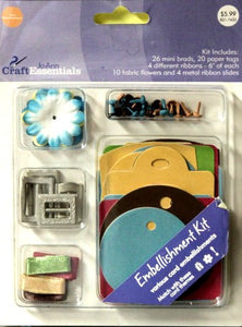 JoAnn Craft Essentials Card Embellishment Kit - SCRAPBOOKFARE