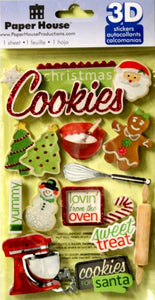 Paper House 3D Dimensional Christmas Stickers - SCRAPBOOKFARE