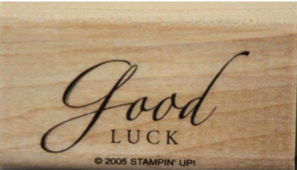 Stampin' Up! Good Luck Mounted Rubber Stamp
