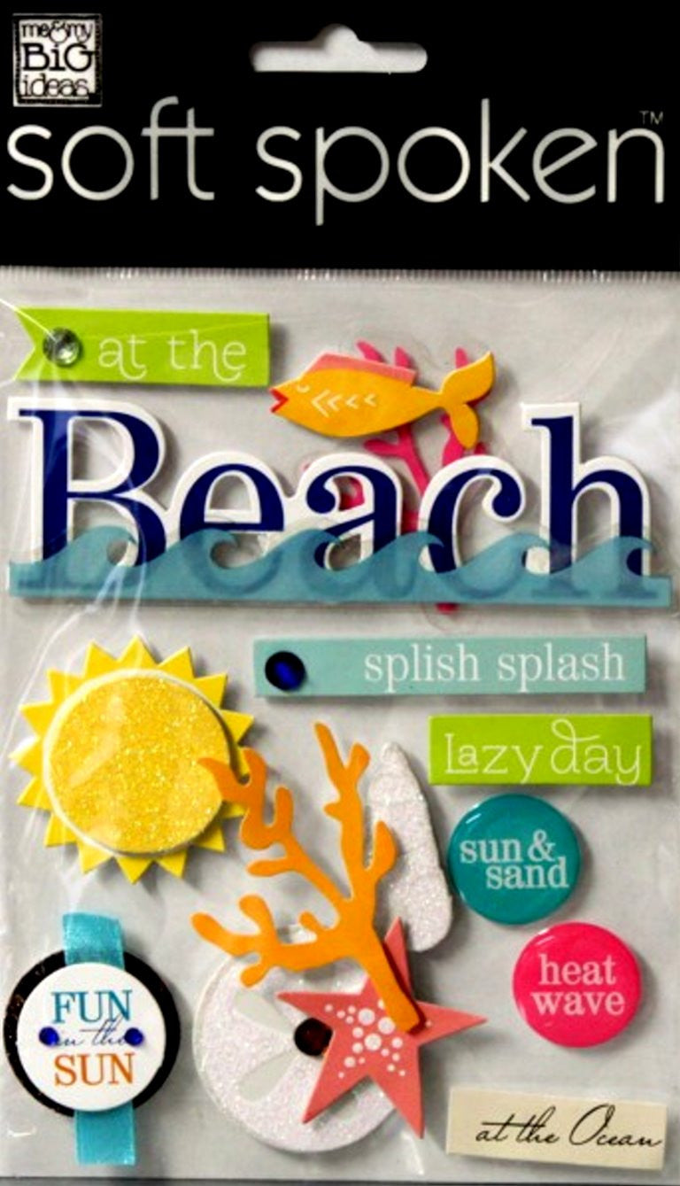 Me & My Big Ideas Soft Spoken Summer Fun Dimensional Stickers - SCRAPBOOKFARE