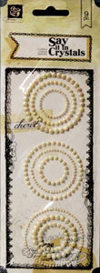 Prima Say It In Crystals Adhesive Crystals Embellishments - SCRAPBOOKFARE