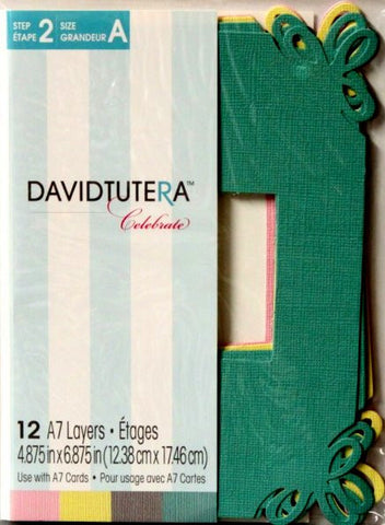 David Tutera Celebrate Die-Cut Frame Card A7 Card Layers - SCRAPBOOKFARE