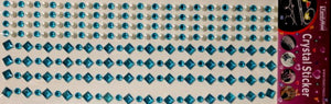 Family Maid Self-Adhesive Turquoise Crystals & Pearls Embellishments - SCRAPBOOKFARE