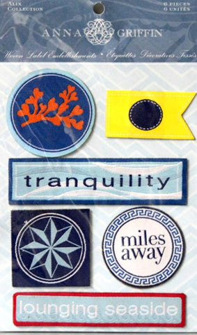 Anna Griffin Alix Collection Woven Label Embellishments Stickers - SCRAPBOOKFARE