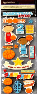 Recollections Basketball Chipboard Dimensional 3-D Stickers Embellishments - SCRAPBOOKFARE