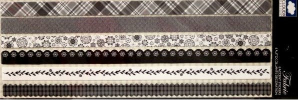 Cloud 9 Design Fabric Border Strips Accents Stickers - SCRAPBOOKFARE