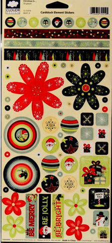 Cloud 9 Design Christmas Is...Cardstock Element Stickers - SCRAPBOOKFARE