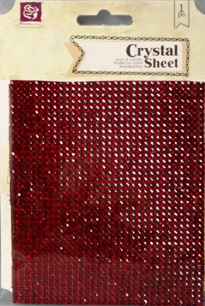 Prima Ruby Red Self-Adhesive Crystal Sheet - SCRAPBOOKFARE