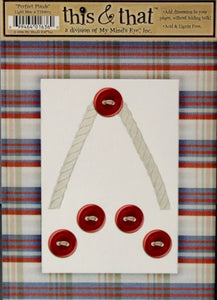 My Mind's Eye This & That Perfect Plaids Light Blue Die-cut Frame & Embellishments - SCRAPBOOKFARE