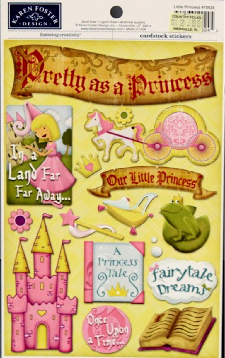 Karen Foster Design Little Princess Cardstock Stickers - SCRAPBOOKFARE