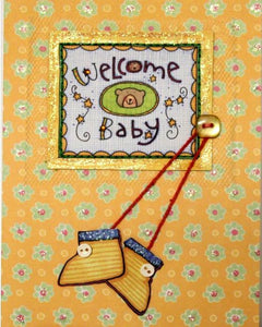 Scrapbookfare Welcome Baby Handmade Dimensional Greeting Card