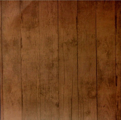 DCWV 12 x 12  Dark Brown Wood Planks Scrapbook Paper - SCRAPBOOKFARE