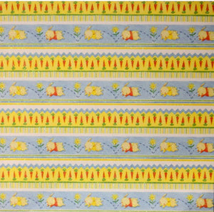 DCWV Heat Embossed Baby Bunnies In A Row Cardstock Nursery Rhymes Scrapbook Paper - SCRAPBOOKFARE
